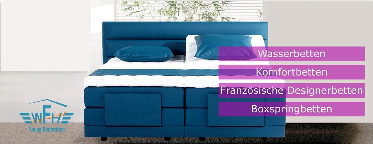 wasserbett komfortbett franz sische oder boxspringbett. Black Bedroom Furniture Sets. Home Design Ideas